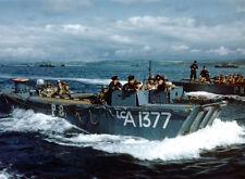 8x6 Photo ww1AD Normandy Weymouth LCA 1377Lsi HMS Prince Baudouin 5th Rangers