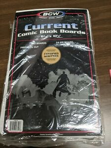 """80 Ct BCW Comic Book Backing Boards, Acid Free 6-3/4 x 10-1/2"""" Current Storage"""