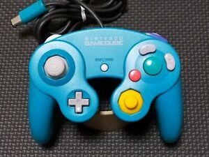 FullAuth-Nintendo-GameCube-GC-Controller-Emerald-Blue-Official-DOL-003-Working