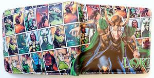 Loki-Avengers-Thor-Wallet-Geldboerse-ID-Fenster-2-Kartenfaecher-Zip-Coin-Pocket