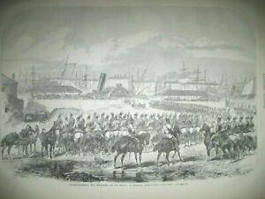 IRLANDE-DUBLIN-DRAGONS-DE-LA-REINE-NOUVELLE-ZELANDE-NGAITERANGI-GRAVURES-1867
