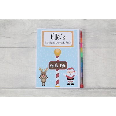 Personalised Christmas Eve Gift Box Activity Colouring Pack Book Stocking Filler