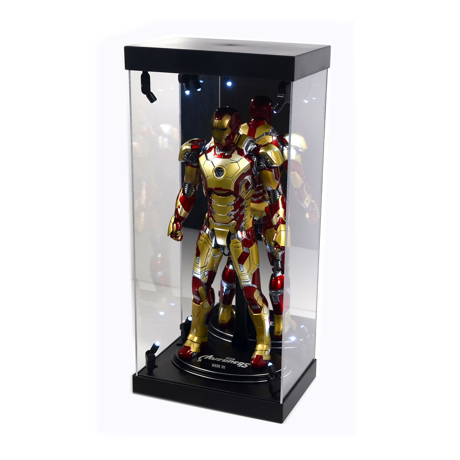 Acrylic Display  Case lumière Box for 12  1 6th Scale IRON homme Mark 17 Heartbreaker  moins cher