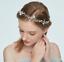 Bride Girl Crystal Beads Blue Flower Pearl Wedding Tiara Hair Accessories