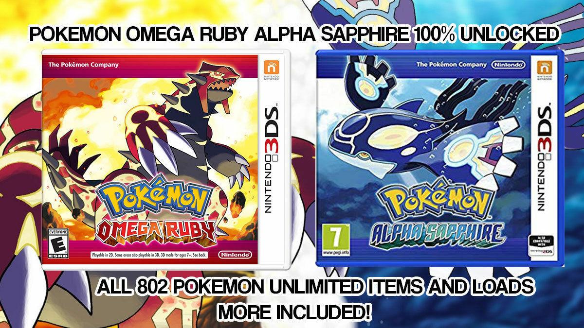Pokemon ORAS Unlocked MAX IV'S 999x Items + More