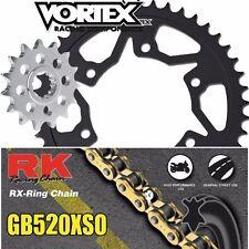 07 - 15 CBR600RR Vortex RK 520XSO 15/44T Steel Sprocket & Chain Kit Honda
