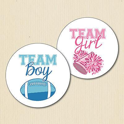 Gender Reveal Baby Shower équipe GIRL /& équipe Boy badge Favours X 10