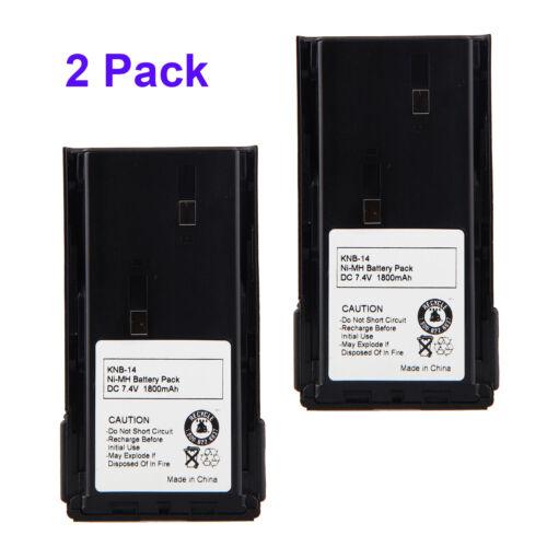 2Pcs 7.4V 1800mAh Ni-MH Battery for Kenwood KNB-20 KNB-20N TK-260 TK-260G TK-270