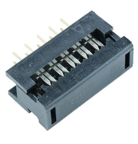 x IDC 2.54mm Buchse PCB 6 polig Flachbandkabel Gerade #A1940 5 Stk