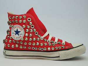 Converse all star Hi borchie teschi  nero-  grigi -rosso-blu artigianali