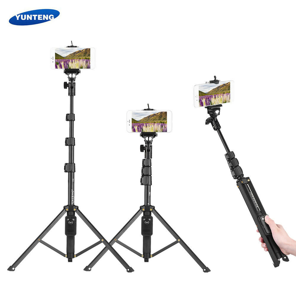 Phone Tripod VCT-1688 3in1 Mini Table Selfie Stick Tripod Bluetooth Remote Shutter Handle for Phone