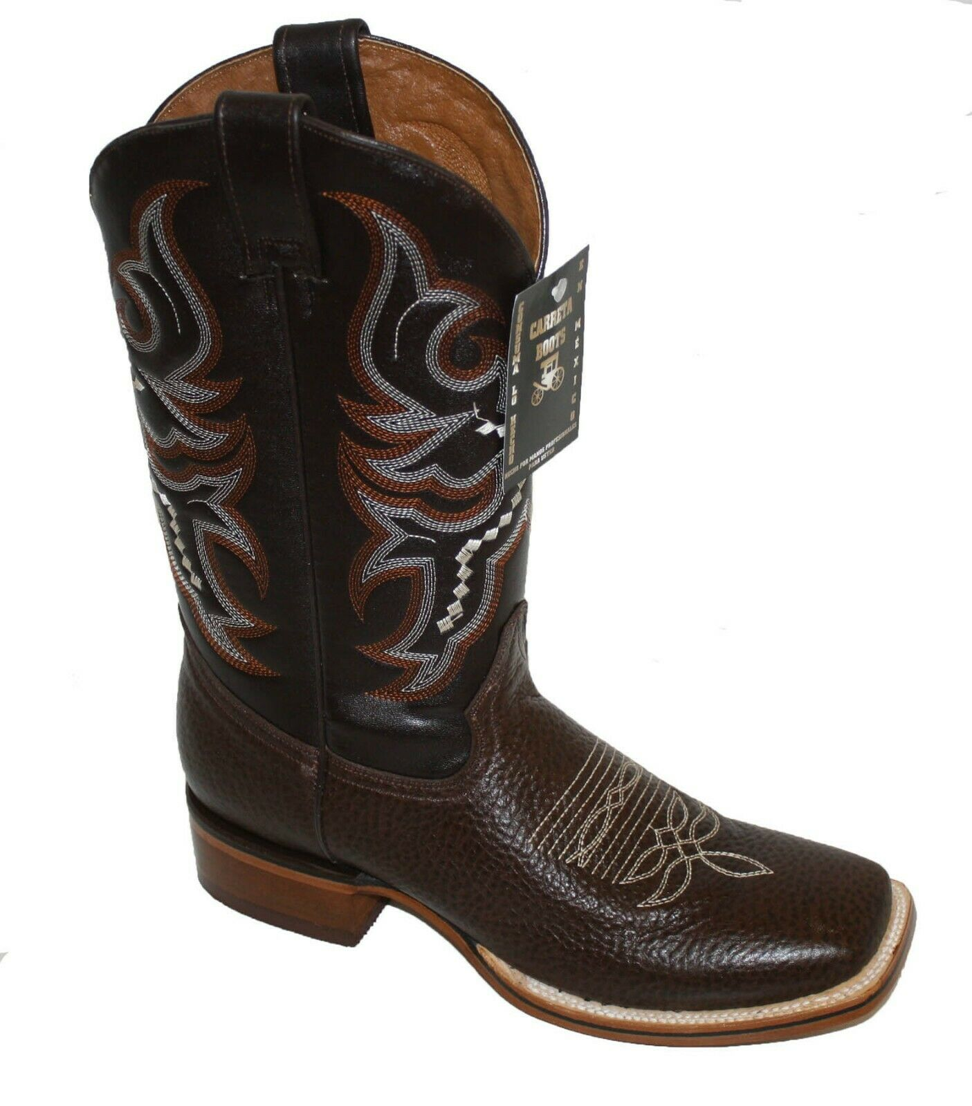 Men's Genuine Deer Skin Leather Cowboy Western Square Toe Rodeo Rodeo Rodeo Boots  3de373