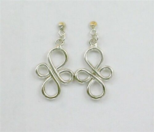 Sterling Silver Infinity Cross post Boucles d/'oreilles