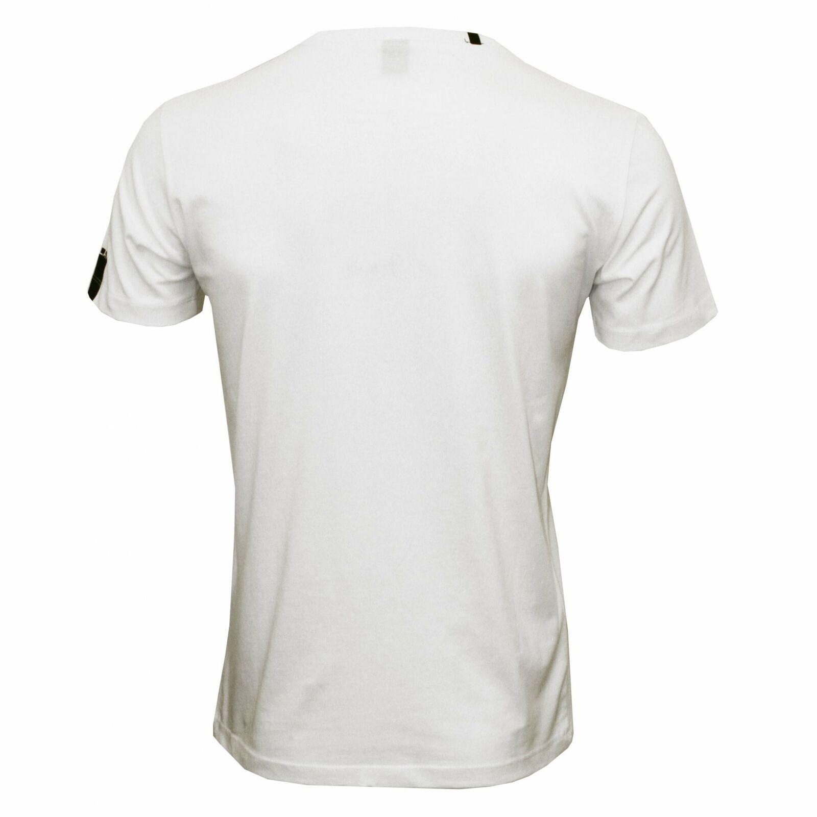 T-Shirt da uomo con stampa casco da moto Replay, Replay, Replay, bianco 601158