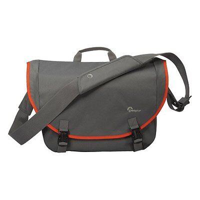 Lowepro Passport Messenger Shoulder Bag in Grey & Orange for Camera and Laptop