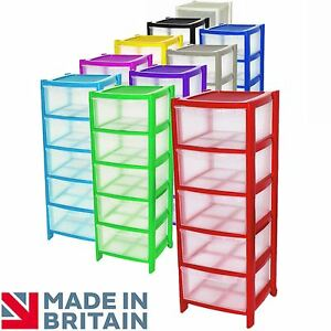 Crazygadget 174 Plastic Large Tower Storage Drawers Chest