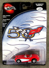 100% HOT WHEELS ~ CORVETTE 50TH ANNIVERSARY ~ 1958 CORVETTE ~ RED