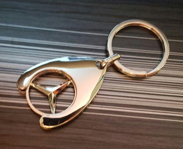 Mercedes Benz Ciondolo Portachiavi con Chip Shopping Argento Originale