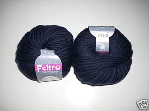 """blau Lana Grossa /""""Feltro/"""" 50g Farbe 05 dkl"""