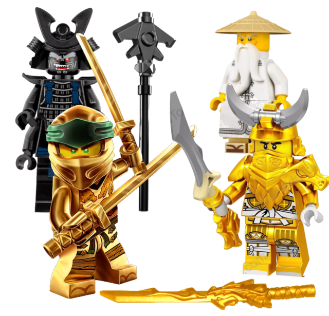 Lego Ninjago 2 Ninja Sensei Gold Golden Dragon Sword    Minifigure Not Included