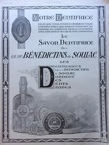 Page-Of-Advertising-Toothpaste-Benedictines-Of-Soulac-IN-1925-Ref-61546