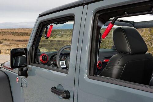 GraBars REAR ONLY Grab Bars with Red Grips 07-18 Jeep Wrangler JK 4 Door 1004R