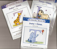 Peanut & Friends - Alphabet Letter - A - Z Choose cross stitch kit 13.5cm x10cm