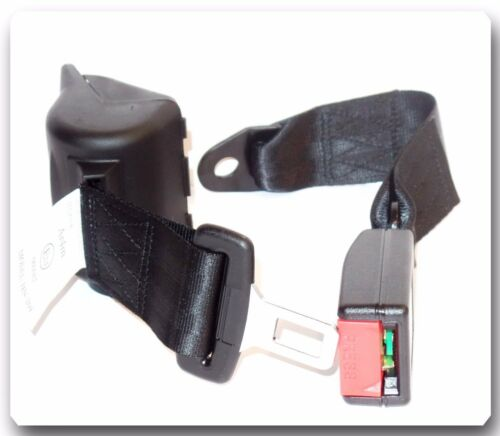 2 Kits Universal Strap Retractable Car Trucks Safety Seat Belt Black 2 Point