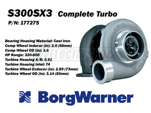 Borg-Warner-S300SX3-Turbo-T4-0-91-A-R-66mm-Inducer-320-800HP