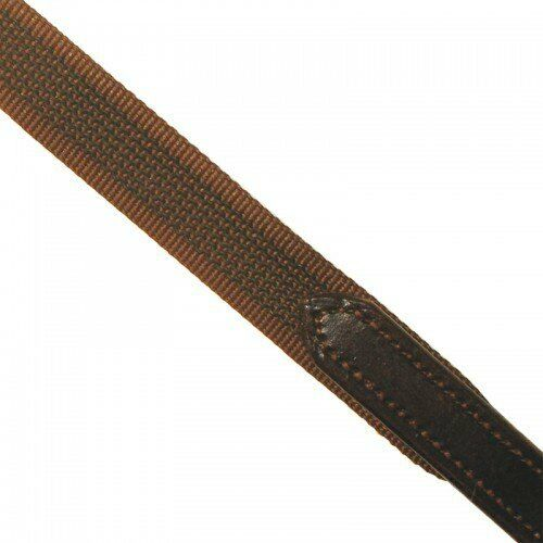 ASCOT SUPERGRIP REIN RUBBER WEBBING REIN PONY FULL BLACK OR BROWN