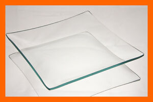 "6"" Square Clear ""BENT"" Glass Plate 1/8"""