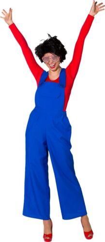 Orl Kostüm blaue Latzhose Clownin Karneval Fasching
