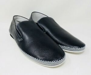 44b9454f816 Details about ZANZARA Mens MERZ Slip-On Loafers Perforated Leather Shoes  Pick A Size Pre-owned