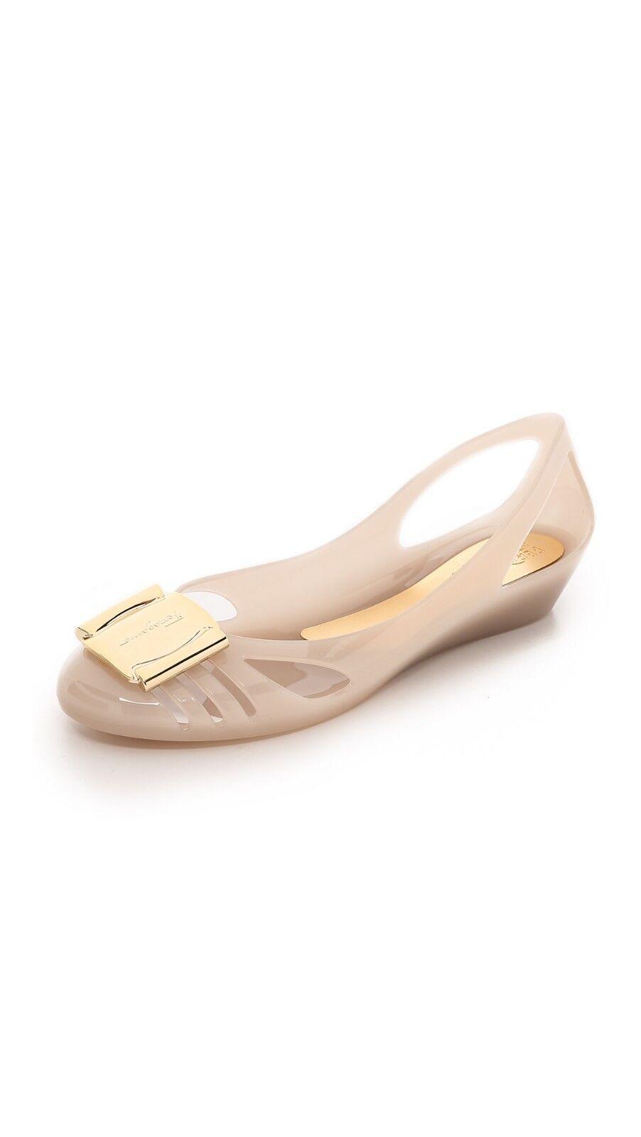 Nuevo Nuevo Nuevo en Caja Salvatore Ferragamo Bermudas Negro Beige Piscina Jelly Ballet a534c9