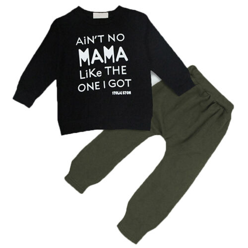 Kids Clothes Long Sleeve Sweatshirt Pants Outfits Set Child Suit Pullover Baby