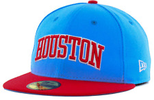 New Era Houston City Block Light Blue Red 59Fifty Fitted Cap Hat $35 Size 7 1/4