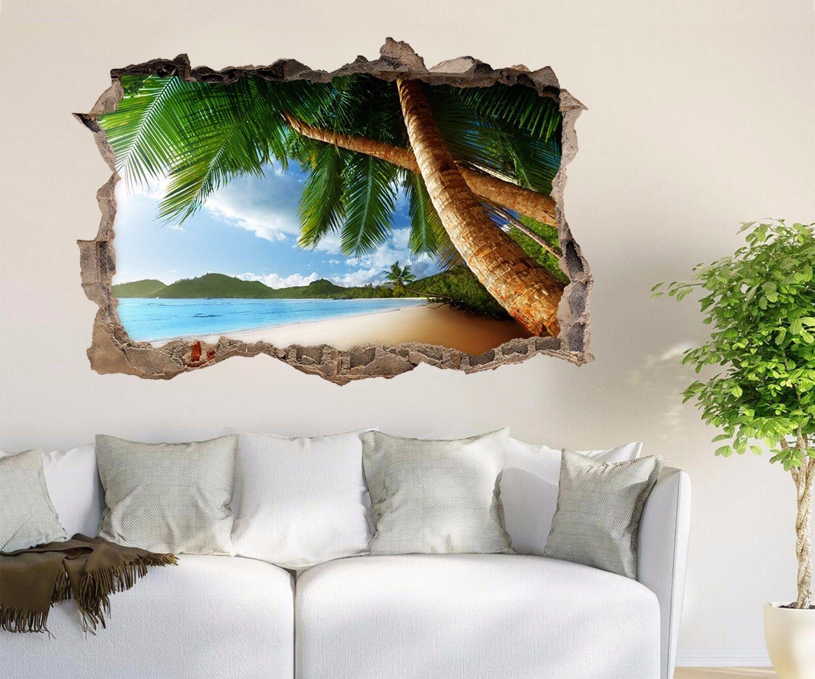 3D Alberi Spiaggia 270 Parete Murales Adesivi Decal Sfondamento AJ WALLPAPER IT