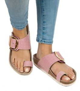 1c65be755ddd Image is loading Birkenstock-Sandals-MIRAMAR-BIG-BUCKLE-Ceramic-Pattern-rose -