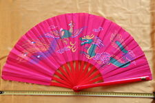 Tai Chi Eventail-éventail-Tai Ji Fan-abanico-Angebot-ventaglio-Dragon Fushia
