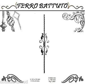 PANNELLI-PALETTI-FOGLIATI-FERRO-BATTUTO-X-SCALA-RINGHIERE-CANCELLO-H-90cm-L-16cm