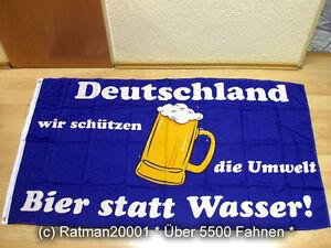 Fahnen-Flagge-Deutschland-Bier-statt-Wasser-NEU-90-x-150-cm