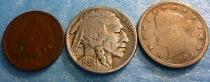 Indian-Head-Cent-Liberty-V-Nickel-Buffao-Nickel-Collection-BVI