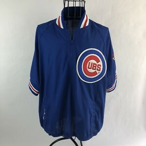 8b131898b7f VTG Majestic Diamond Chicago Cubs Big Logo Blue Womens Large Crop ...