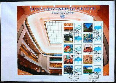 Frank Uno Genf 2015 Grussmarken Bogen 922-31 Fdc Palast Der Nationen