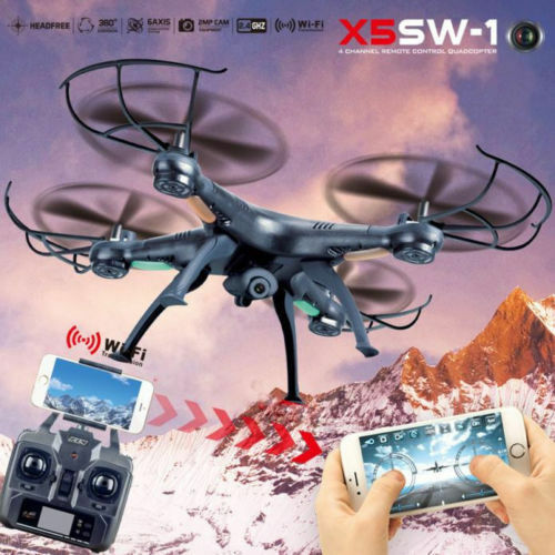 X5SW-1  6-Axis Gyro 2.4G 4CH Real-time Images Return RC FPV Quadcopter Drone US  negozio d'offerta