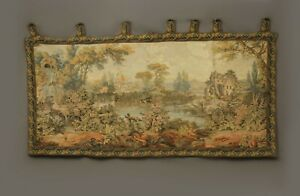 Antique-French-Aubusson-Style-Wall-Hanging-Tapestry-160-X-88cm-Vintage-Style