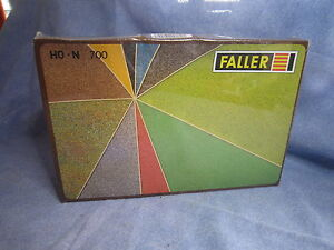 ZA519 FALLER ASSORTIMENT DE FLOCAGES 10 COULEURS DIFFERENTES 300G REF 700 HO + N