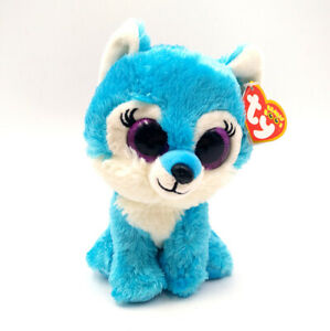 6-034-TY-Beanie-Boo-039-s-Glitter-Eyes-Blue-Jade-Plush-Toys-Great-Wolf-Lodge-Exclusive