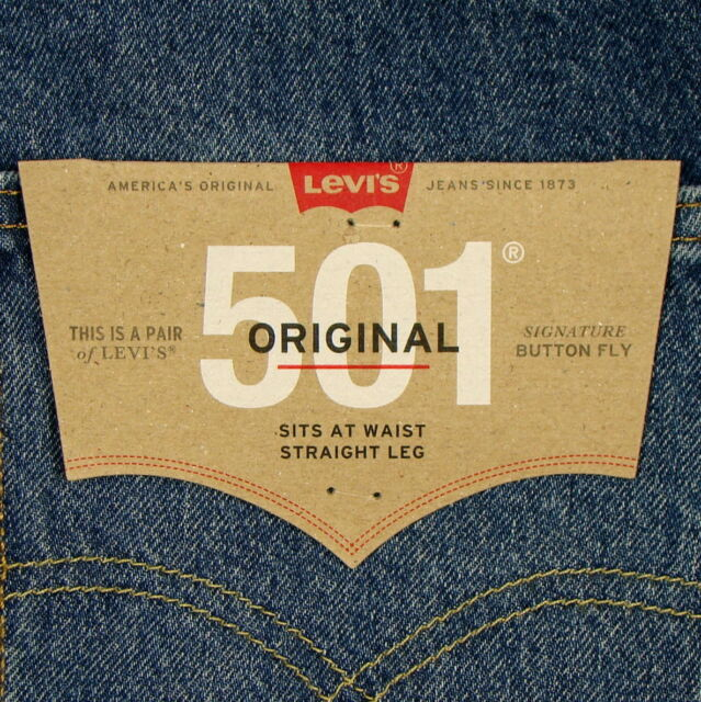 4b83d08e8b1 Levis 501 Jeans Original New Mens Size 36 x 34 DARK BLUE WITH FADE Levi's  NWT