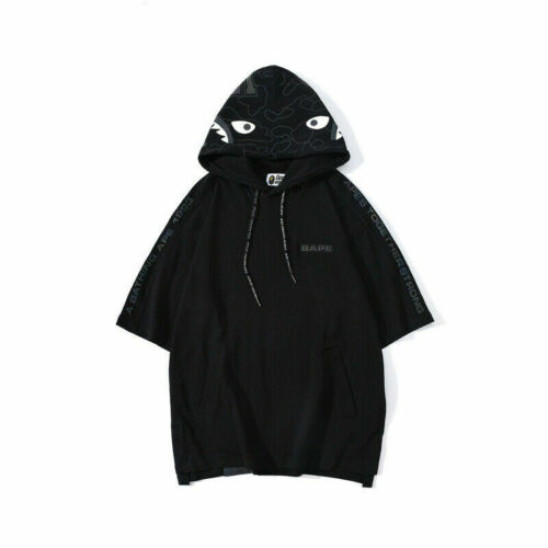 Bape A Bathing Ape Reflective color hooded T-shirt Shark Mouth Print Hoodie2020#